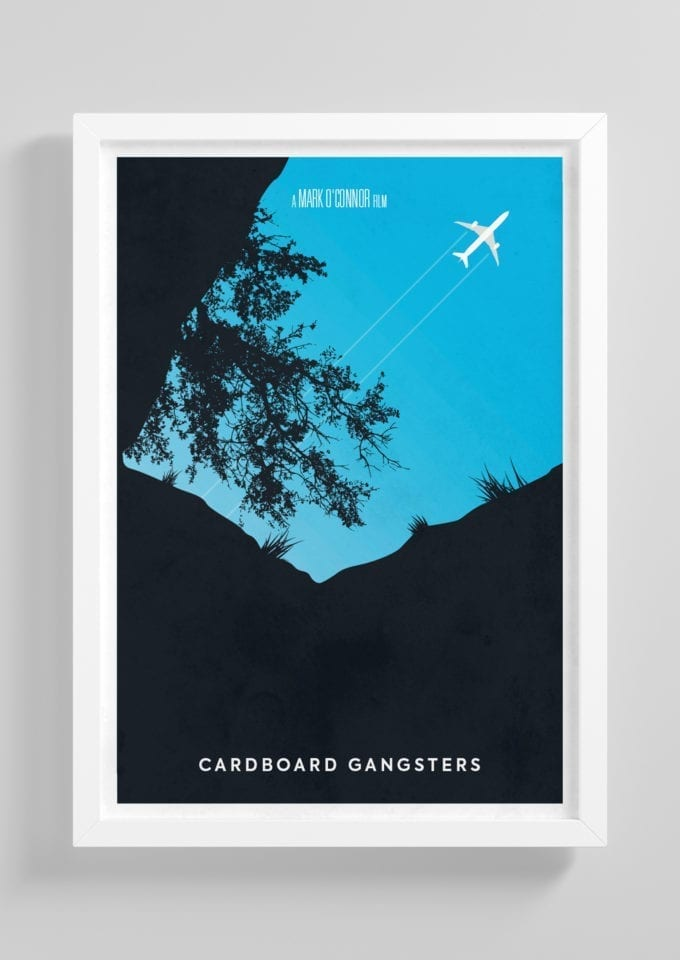 Cardboard-Gangsters-Minimalist-Movie-Poster-with-Frame
