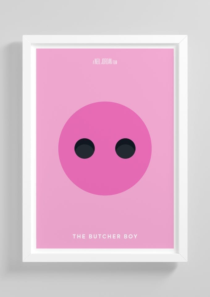 The-Butcher-Boy-Minimalist-Movie-Poster-with-Frame