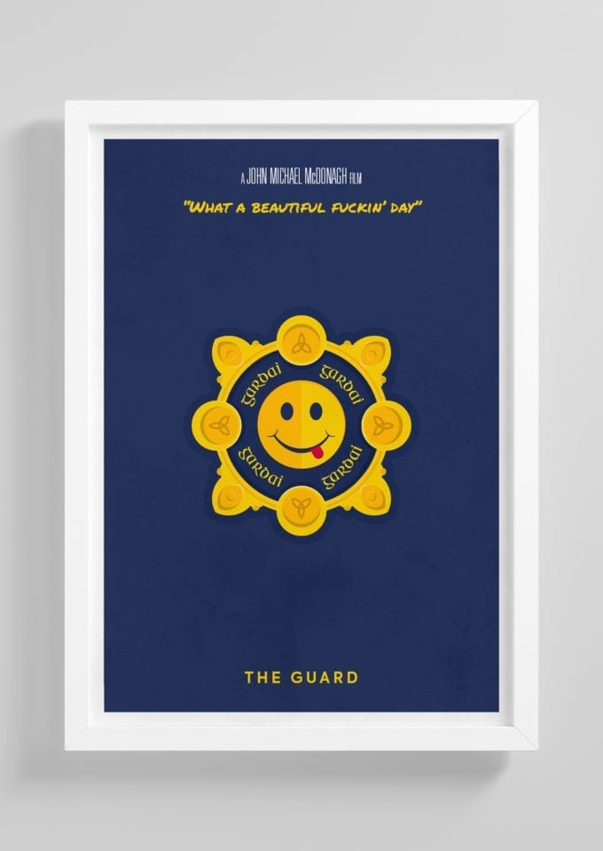 The-Guard-Badge-Minimalist-Movie-Poster-with-Frame