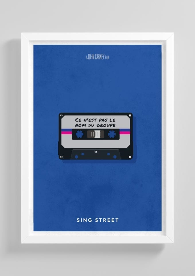 Sing-Street-Minimalist-Movie-Poster-with-Frame