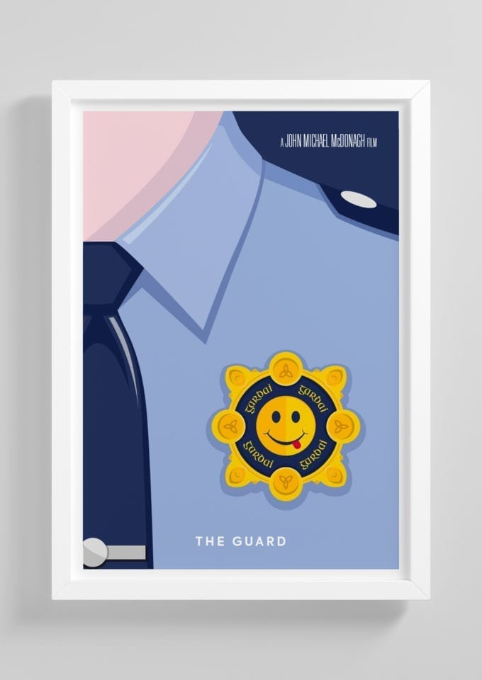 The-Guard-Minimalist-Movie-Poster-with-Frame