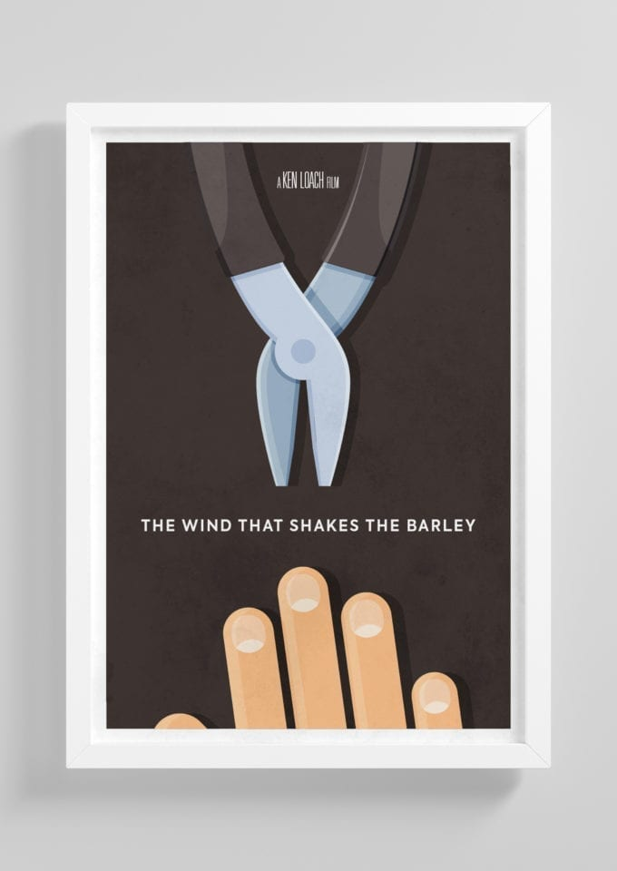 The-Wind-That-Shakes-The-Barley-Minimalist-Movie-Poster-with-Frame