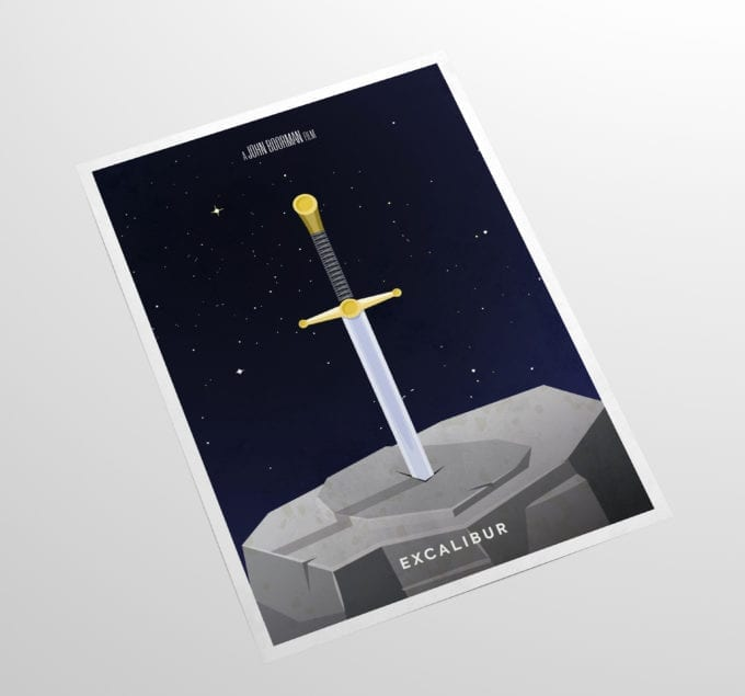 Exalibur-Minimalist-Movie-Poster-Side