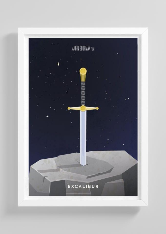 Exalibur-Minimalist-Movie-Poster-with-Frame