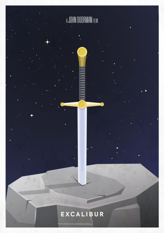Excalibur Minimalist Poster